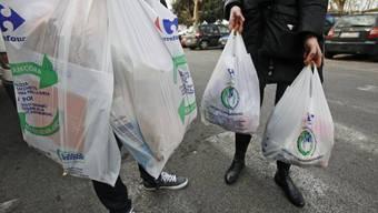 Biologisch abbaubare Plastiksäcke in Italien (Archivbild)