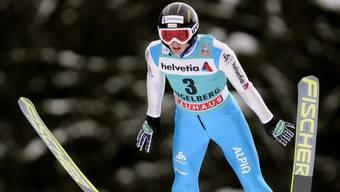 Pascal Kälin sprang in der Qualifikation in Willingen 126 m weit.