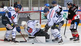 Der EHC Basel scheiterte zu oft vor dem gegnerischen Tor.