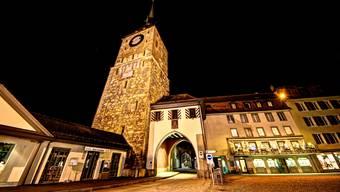 Nachts unterwegs in Aarau.