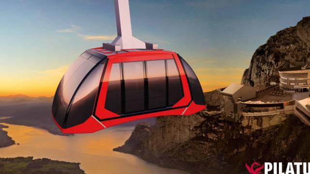 Die neuen aerodynamischen Kabinen der zukünftigen Pilatus-Bahn