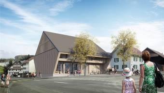 Die neue Gemeindescheune bietet viel Platz für viel Dorfkultur: Bibliothek, Mittagstisch und Multifunktionsraum für 100 Leute.