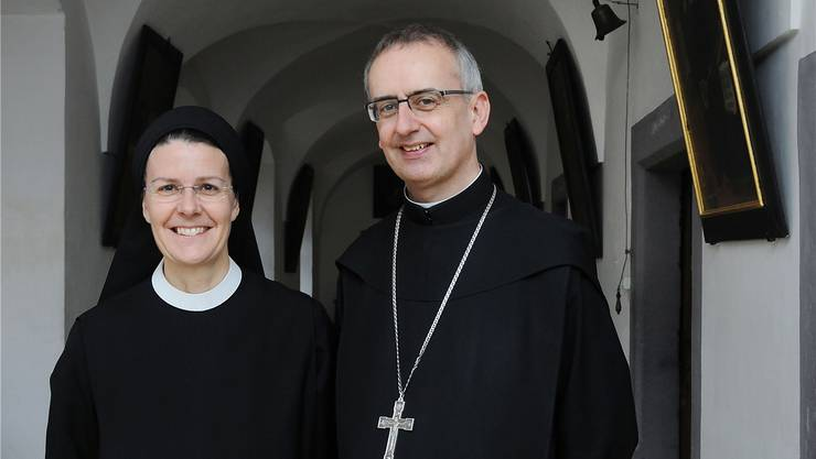 Priorin Irene Gassmann freut sich, dass Pater Martins Jubiläumssendung vom Kloster Fahr aus übertragen wird.