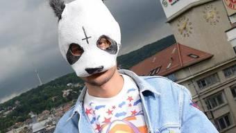Anonymität dank Panda-Maske: Rapper Cro (Archiv)