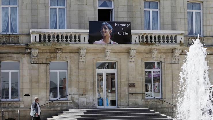 Gedenken an die getötete Aurélie Châtelain in Caudry, Nordfrankreich.