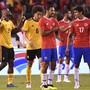 Viel Gesprächsstoff bei Costa Ricas Spielern nach dem 1:4 im Testspiel gegen Belgien