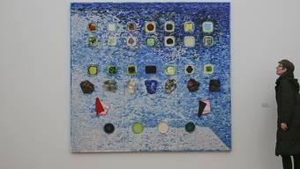 """""""Apps for Obama"""" heisst eines der Werke des US-amerikanischen Künstlers Jack Whitten. Es ist Teil der Ausstellung  """"Jack's Jacks"""" im Hamburger Bahnhof in Berlin."""