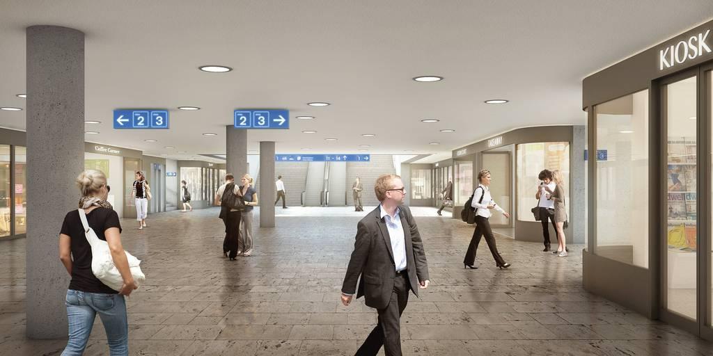 So soll die Rathausunterführung künftig aussehen. (SBB)