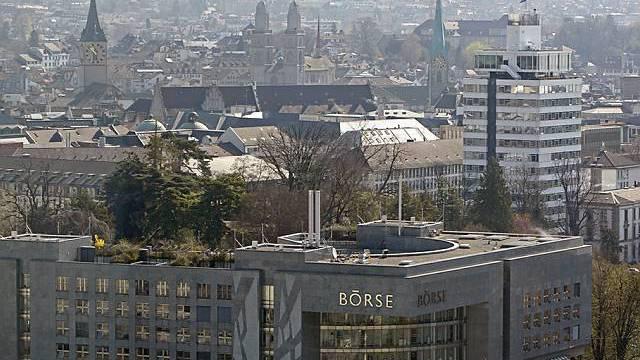 Schwache Tendenz: Blick auf die Börse in Zürich (Archiv)