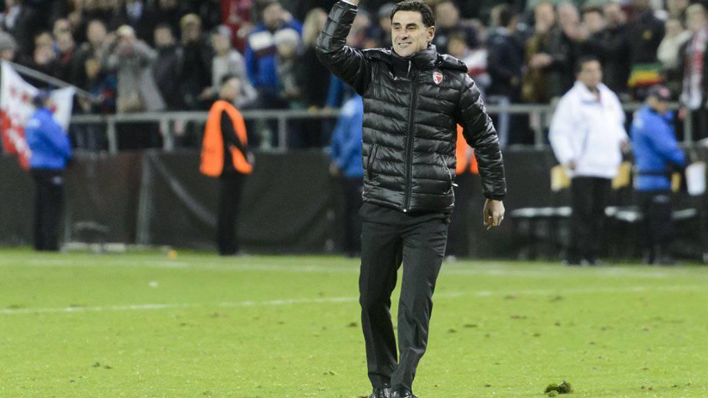 Auch Didier Tholot konnte sich nach dem Spiel gegen Bordeaux feiern lassen
