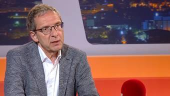 """""""Immer noch müde"""": Urs Hofmann war am Dienstagabend in der Sendung """"TalkTäglich"""" auf Tele M1 zu Gast."""