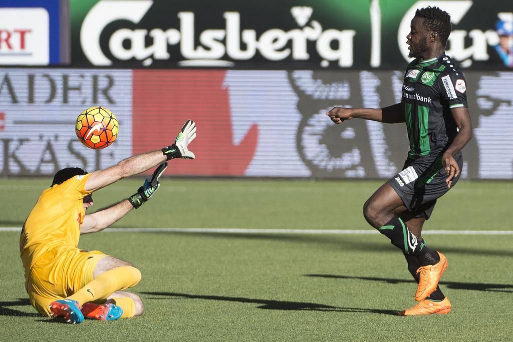 Edgar Salli trifft in der 28. Minute zum 1:0. (© FM1Today.ch)