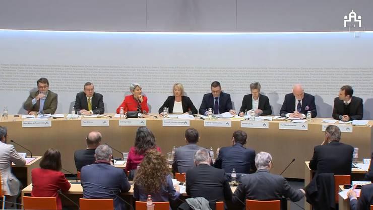 Die öffentliche Anhörung zum EU-Deal der Schweiz.