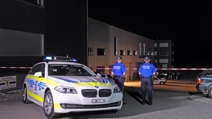 Die Kantonspolizei Aargau wurde in der Nacht wegen eines Einbruchalarms zu einem INdustriegebiet in Sins gerufen.