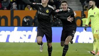 Im Januar stellte sich Erling Haaland (links) der Bundesliga in Augsburg mit einem Dreierpack vor