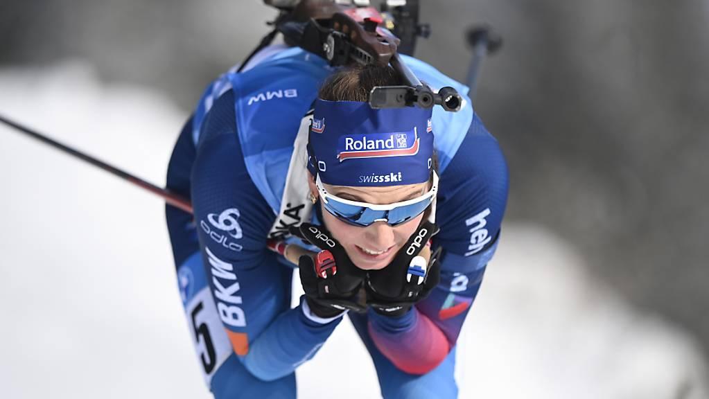 Selina Gasparin fährt diesmal der Konkurrenz hinterher.