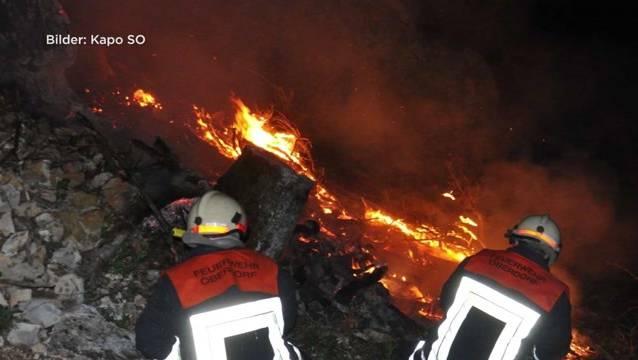Vorsicht, es herrscht Waldbrandgefahr.