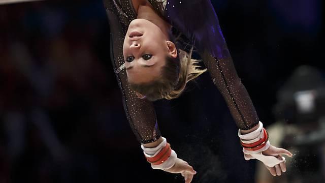 Giulia Steingruber während ihres Wettkampfs.