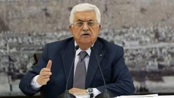 Abbas unterschrieb die internationalen Verträge am 31. Dezember
