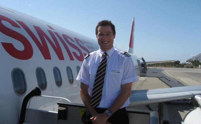Der junge Sales Wick im Jahr 2011 - ein Jahr nach Abschluss seiner Pilotenausbildung.
