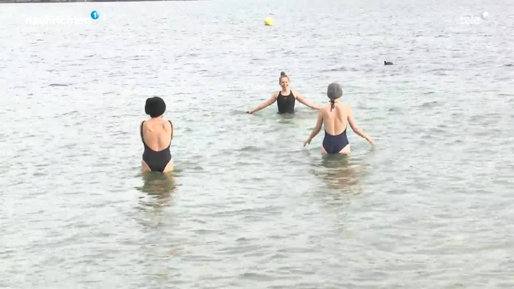 Auf Besuch bei den Winterschwimmern