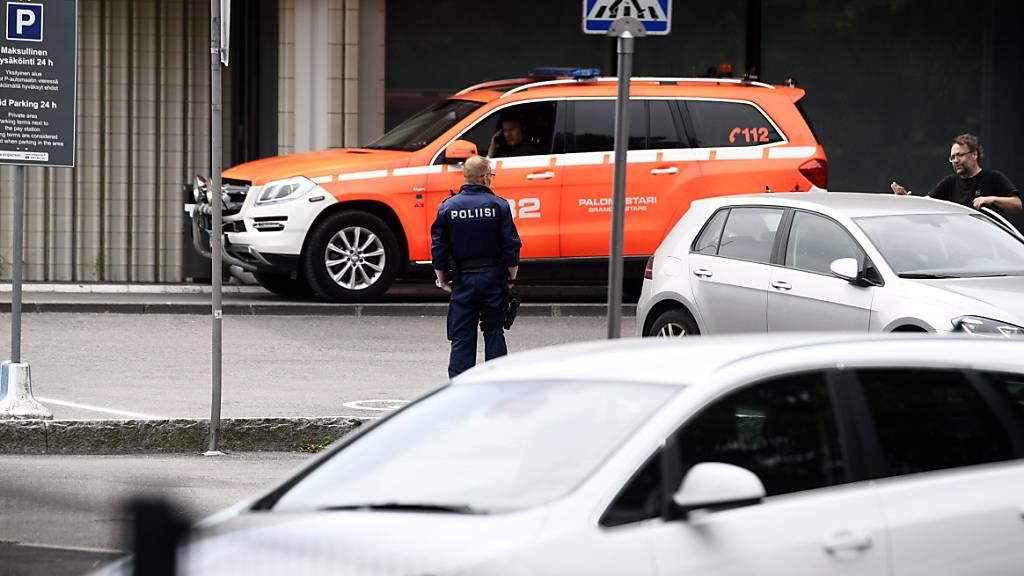 Explosion im Theater von Helsinki