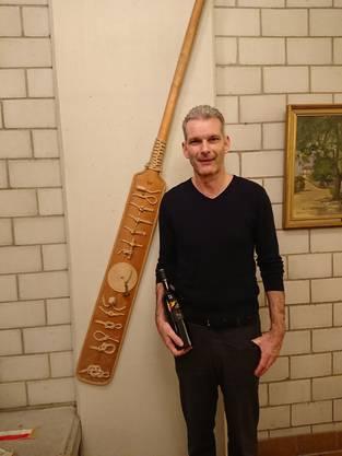 Martin Affentranger wurde für 40. Jahre Aktivmitglied geehrt.