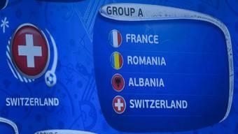 Frankreich, Albanien und Rumänien - das sind die Schweizer Gegner.