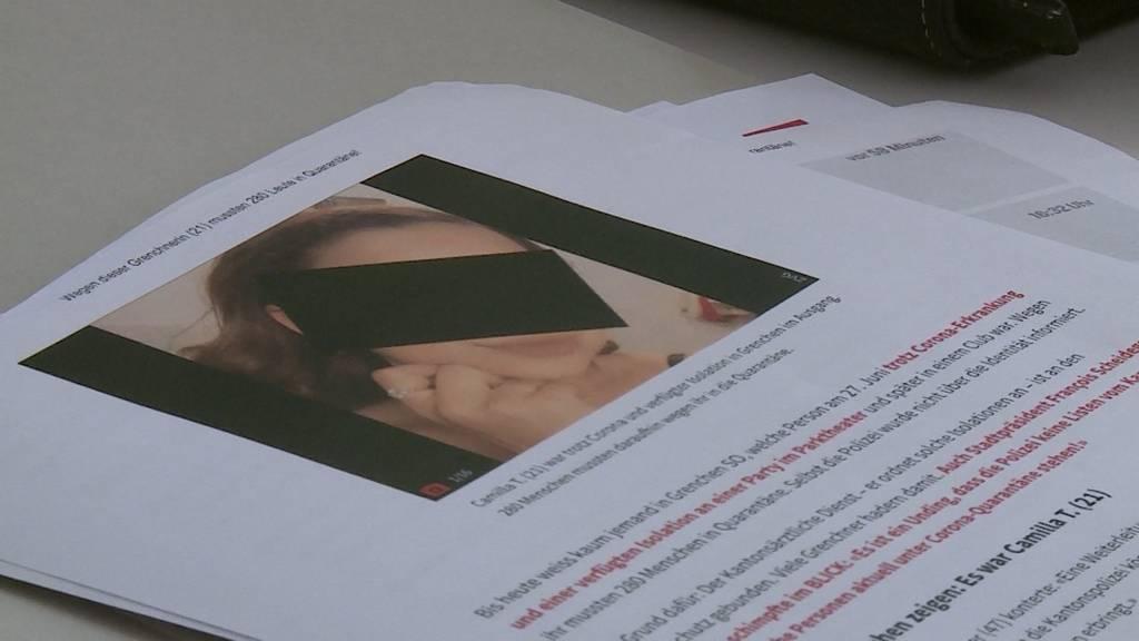 Corona-Fall Grenchen: 21-Jährige wehrt sich gegen Vorwürfe