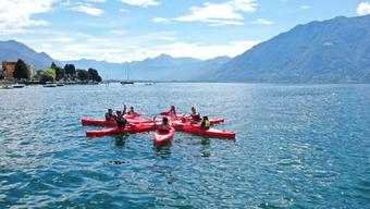 Sommerlager Tenero: Auch auf dem Lago Maggiore blieb der geforderte Abstand gewahrt.
