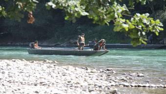Auch die Armee half im August 2012 bei der Suche.