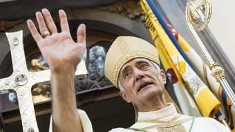 Bischof Jean-Marie Lovey auf einem Archiv-Bild.
