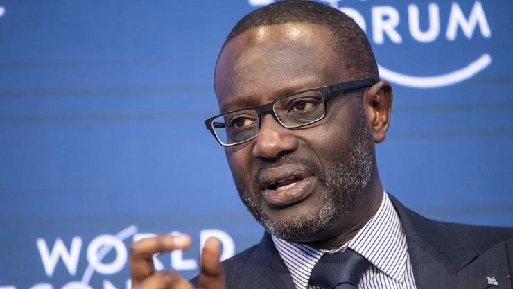 Tidjane Thiam, CEO der Credit Suisse, vergangene Woche am WEF in Davos.