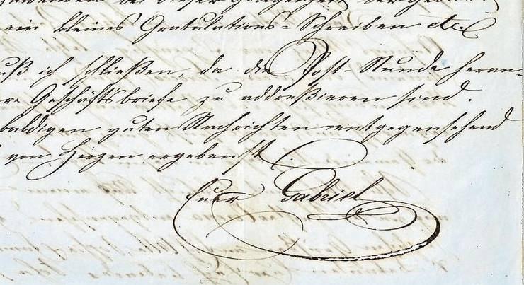 Mit seiner Familie führte der Kaufmann regen Briefkontakt.