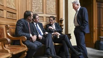 Wie weiter Die Führungsriege der SVP im Bundeshaus berät das weitere Vorgehen.