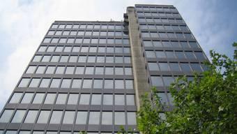 Das Obergericht soll die Räume von Informatik Aargau im AEW Hochhaus in Aarau nutzen