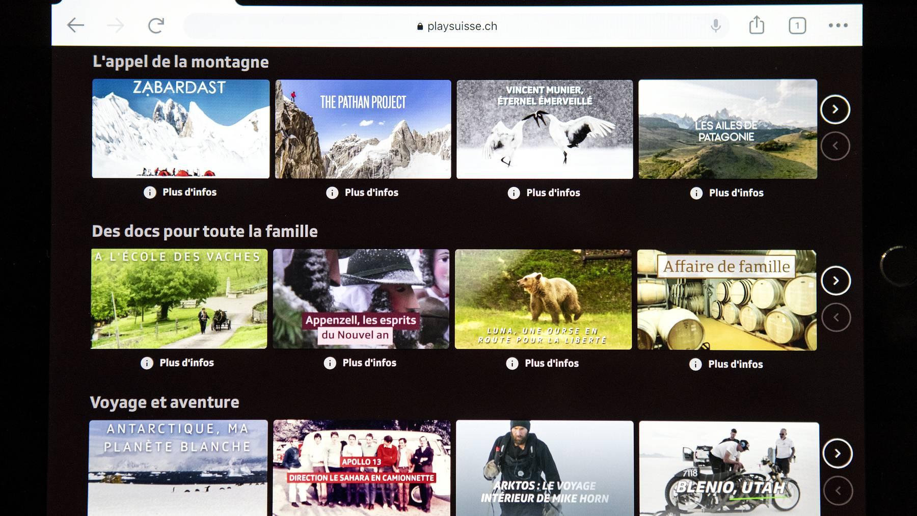 Swisscom-Kunden hatten bis anhin das Nachsehen, nun läuft die App von «Play Suisse» aber auch auf den TV-Boxen von Blue-TV.