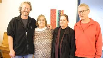 Von links nach rechts: die Gründungsmitglieder Marcel Muther, Verena Christen, Maya Aeschbacher und Stefan Bolz.