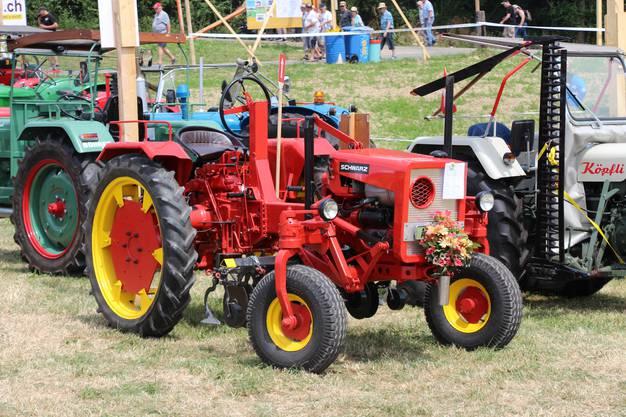 Impressionen vom 5. InternationalenLandmaschinen-Oldtimerr-Treffen in Effingen:Aargauer Eigengewächs in Villigen gebauter Schwarz-Traktor.
