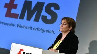 Die von SVP-Nationalrätin Magdalena Martullo-Blocher geführte Ems-Chemie-Gruppe hat im Geschäftsjahr 2017 erneut zugelegt. (Archivbild)