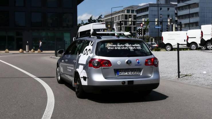 So sieht das selbstfahrende Auto von Swisscom aus