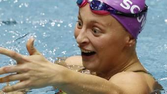 Maria Ugolkova freut sich über ihre zwei Rekorde