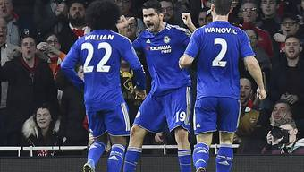 Diego Costa provozierte die Rote Karte und schoss den einzigen Treffer