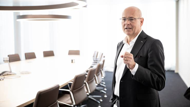 Morten Hannesbo im Amag Hauptsitz in Cham.