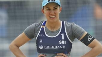 Muss im Moment wie fast alle Sportler auf Ernstkämpfe verzichten: Tanja Hüberli, zusammen mit Nina Betschart Teil des besten Schweizer Beachvolleyball-Duos