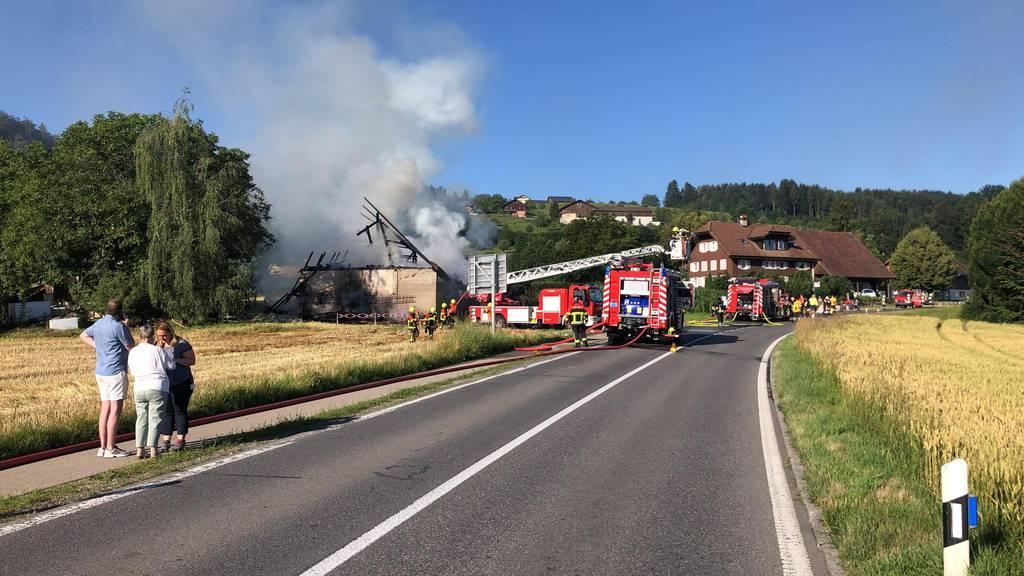 Scheune in Oberkirch niedergebrannt