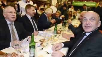 Christoph Blocher und Ueli Maurer bei der Albisgüetli-Tagung