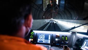 Ein Tunnel wie jeder andere? Nicht für Markus Schindelholz, der zu Testzwecken bereits etliche Male durch den brandneuen Ceneri fuhr.