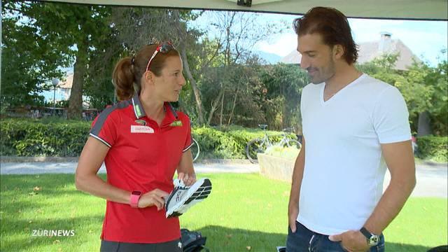 Nicola Spirig trainiert Fabian Cancellara