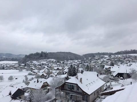 Winterstimmung im Seetalerdorf Egliswil.
